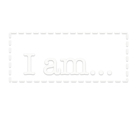 "logo ""I am..."" in a rectangle."