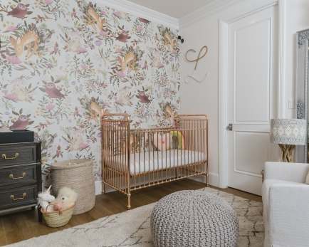 Gold Rose Baby Cot by Incy Interiors.